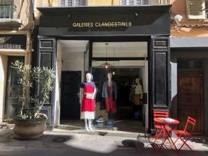 Galeries Clandestines concept store créateurs Aix en Provence devanture