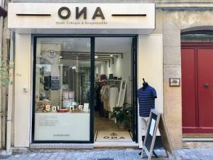 Ona, Ethical fashion, Aix-en-Provence (frontage)