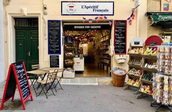 L'Aperitif français, épicerie et cave à Aix en Provence (devanture)
