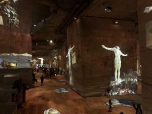 Les Carrières de lumières, centre d'art numérique pour des expositions immersives dans es Baux de Provence