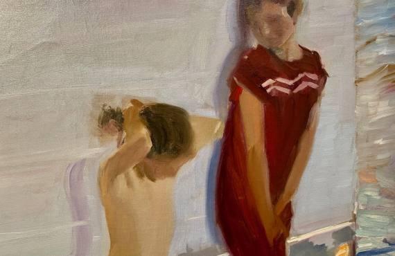 Lumières espagnoles, exposition peintures Sorolla à l'Hôtel de Caumont à Aix-en-Provence (jeunes filles)