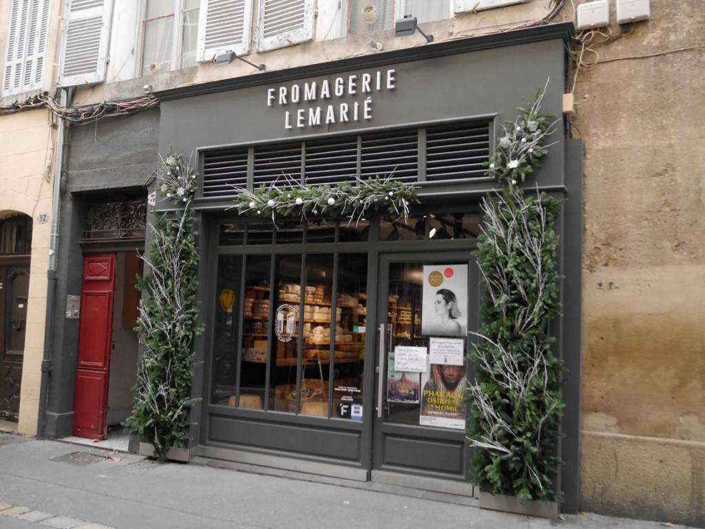 Fromagerie Lemarié, cheese shop in Aix-en-Provence (front)