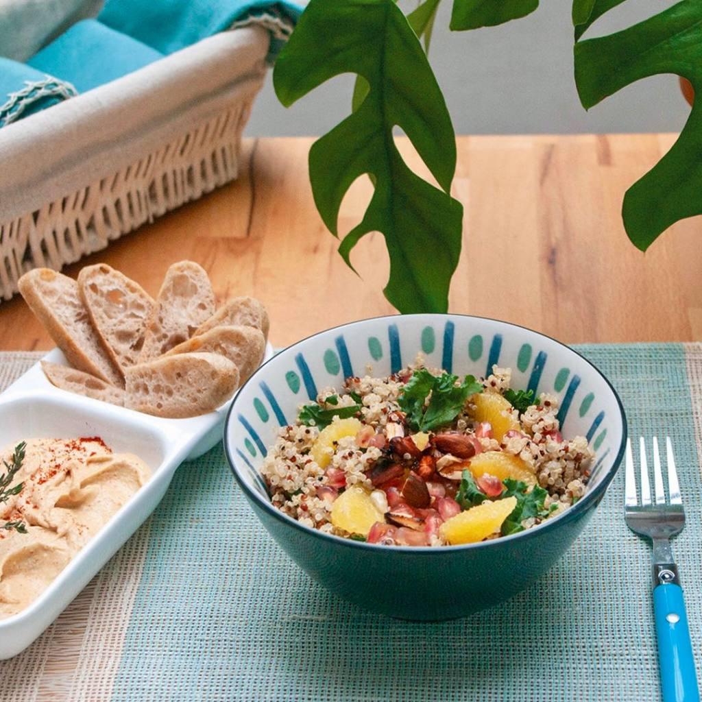 Sanctuary Kitchen, Coffee shop et cantine végétale à Aix (salade)